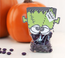 Monster mash treat bag topper